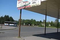 Autobusové nádraží ve Štětí.