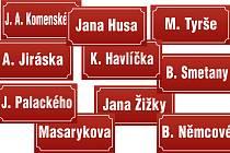 Nejpoužívanější názvy ulic v ČR po osobnostech.