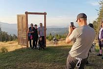 Foto point Šumavské dveře na vrcholu Pancíře