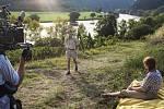 Natáčení filmu Jan Palach ve Velkých Žernosekách. Hlavní postavu ztvárnil Viktor Zavadil
