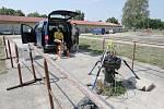 V zadní části bývalých Jiříkových kasáren za poslední rok vyrostlo zbrusu nové Centrum pro výzkum geotermální energie RINGEN.