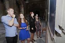 Studenti z Varnsdorfu vystavují v jezuitském kostele v Litoměřicích