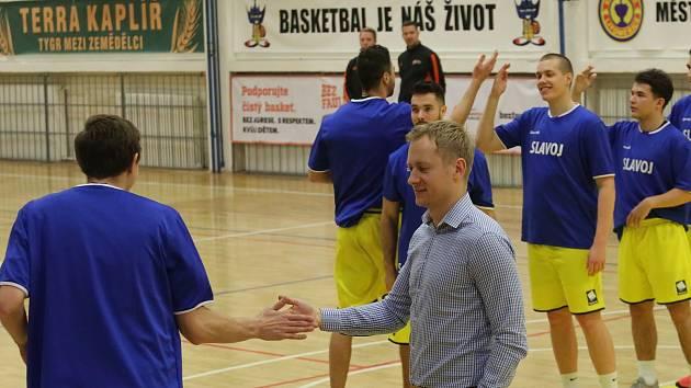Basketbalový zápas mezi Litoměřicemi a Prostějovem, nadstavba A1 1. ligy 2018/2019, basketbalisté Litoměřic, ilustrační