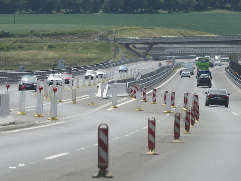 Omezení na dálnici. Ilustrační foto.