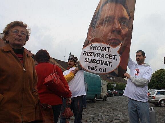 Předvolební akce ČSSD v Roudnici nad Labem.