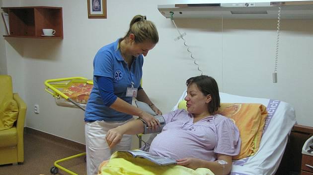 Nadstandardní pokoj v litoměřickém gynekologicko - porodnickém oddělení.