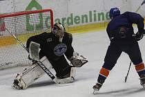 První trénink litoměřických hokejistů v nouzovém stavu