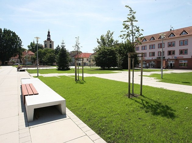 Zelené náměstí v Lovosicích