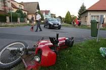 Čtvrteční nehoda motorkáře v Třebenicích