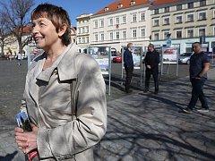 Na Mírovém náměstí v Litoměřicích probíhá putovní výstava Má vlast cestami proměn.