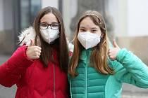 Litoměřice v rouškách a respirátorech. Čtvrtek 25. února 2021