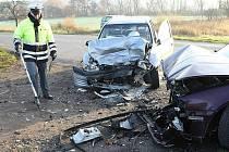 K vážné dopravní nehodě došlo na silnici vedoucí z Litoměřic do Žitenic.