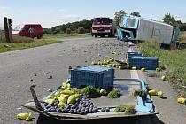 Dopravní nehoda u Travčic
