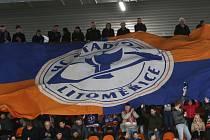 Hokejový zápas mezi Litoměřicemi a Kadaní. Stadion Litoměřice ilustrační