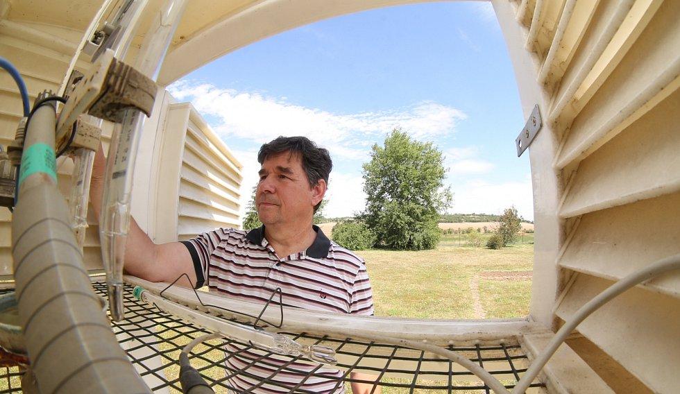 Jaroslav Stalmacher, pracovník observatoře v Doksanech na Litoměřicku