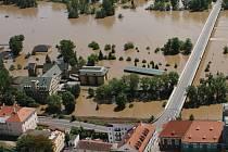 Kvůli povodni zmizela přístupová cesta na Střelecký ostrov.