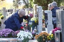 Ilustrační snímek. Litoměřický hřbitov během dušiček