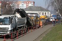 Frézování vozovky v Lovosicích