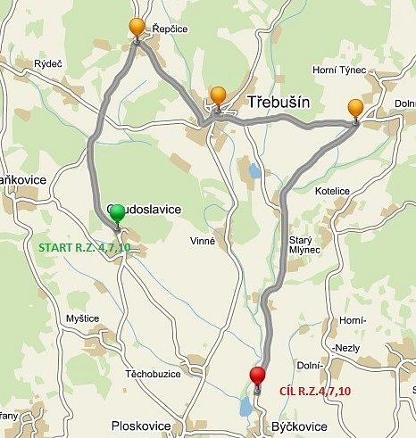 Trasy Rally České středohoří