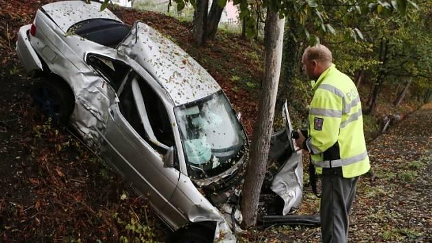 Středeční nehoda BMW v Litoměřicích