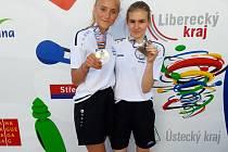 Vítězky soutěže dvojic: zleva Švábíková, Kočí.