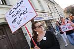 Celostátní pochod proti týrání dětí v Libochovicích