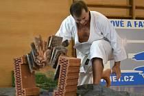 Tameshiwari – přerážecí technika v podání lovosického trenéra Rajcherta