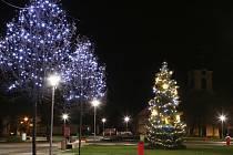 Vánoční strom v Lovosicích.