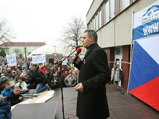 Demonstrace v Roudnici.