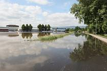 POVODEŇ. Takto vypadala situace letos v červnu v Bohušovicích nad Ohří. Ty však oproti Budyni na dotace dosáhly. Protipovodňová opatření mají. Vešly se do nastavených parametrů.