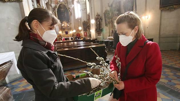Květná neděle v Kostele svatého Jakuba v Litoměřicích.