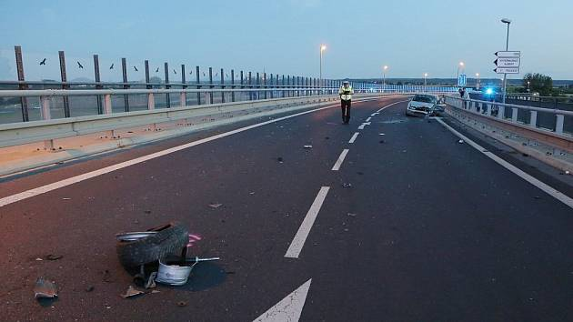 Nehoda na Mostě generála Chábery v Litoměřicích. Ilustrační foto