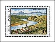 Pohled na Portu Bohemicu se dostal na poštovní známku.
