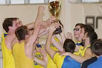 Basketbalisté Slavoje vyhráli 1. ligu.