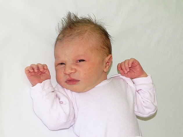 Adéla Němcová se narodila Barboře a Romanu Němcovým z Hrušovan 9.5. v 6.25 hodin v Litoměřicích (3,46 kg a 50 cm).