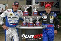 V Misanu vyhrál sobotní závod David Vršecký (vlevo), v neděli jeho stájový kolega z Buggyry Markus Bösiger.