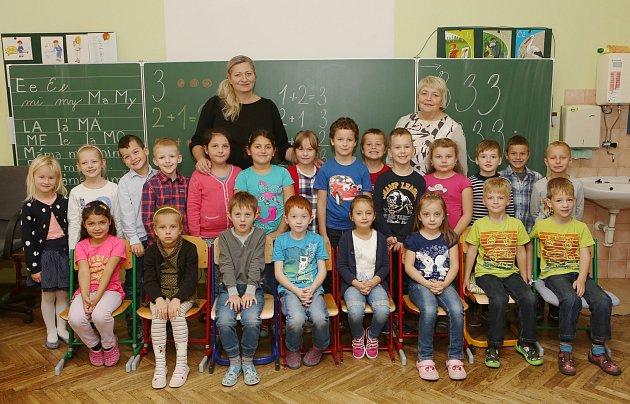 Prvňáčci ze Základní školy vStraškově.
