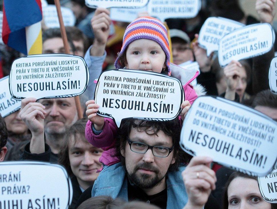 Podpora Tibetu v České republice, ilustrační foto.