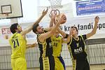 Basketbalové utkání Litoměřice B a Písek B, 2. liga 2018/2019.
