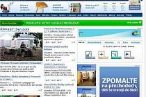 Hlavní stránka webu.