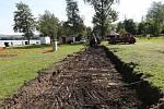 U jezera Chmelař v Úštěku se nyní buduje nové sociální zařízení.
