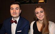 Vítězové literární soutěže Máchovou stopou Pavel Středečný a Magdaléna Peterková