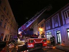 Požár v centru Litoměřic
