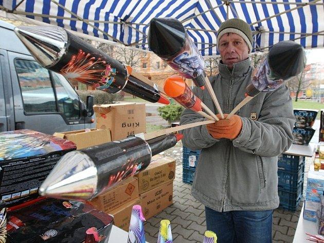 Prodej pyrotechniky v Lovosicích.