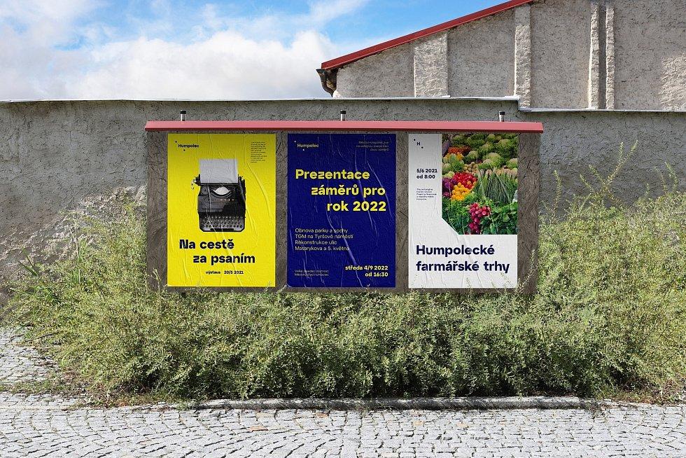 Vítězná vizuální identita Humpolce z pera grafického studia Svéráz