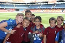 Mladí fotbalisté z Litoměřic si prohlédli stadion Sparty