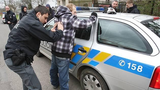 Zadržení zlodějů v Podsedicích