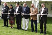 Slavnostní otevření protipovodňových opatření v Křešicích.