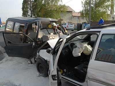 Hromadná nehoda u Benziny