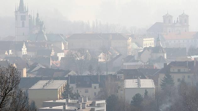 Smog v Litoměřicích.